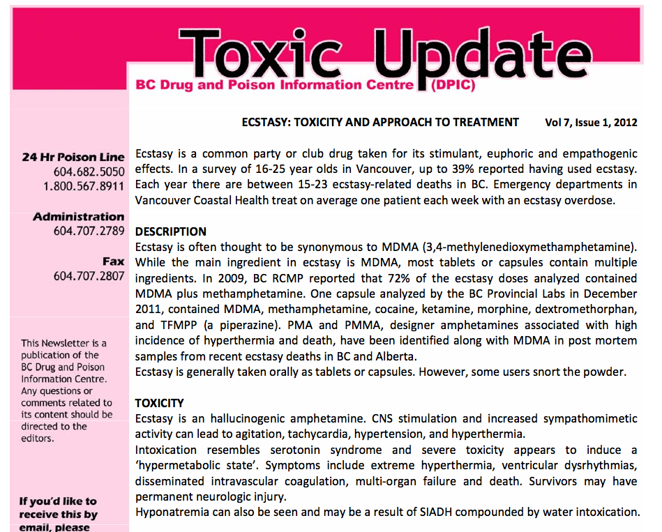 Toxic Update newsletter