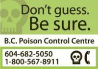 BC Poison Control Fridge Magnet - Don't Guess. Be sure.